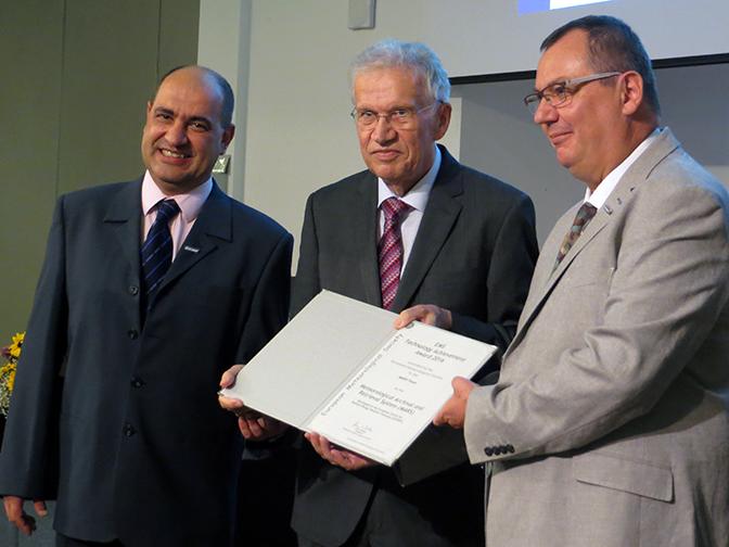 Manuel Fuentes, EMS President Horst Böttger and Baudouin Raoult