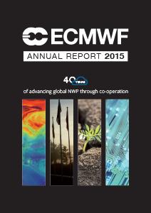ECMWF Annual Report 2015 cover