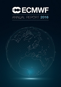 ECMWF Annual Report 2016 Cover