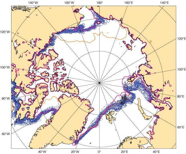 Two-week sea-ice cover forecast