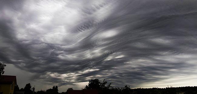 Intricate cloud patterns