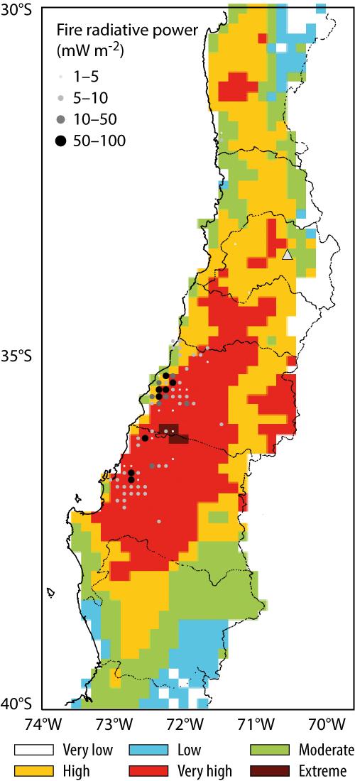 Devastating Wildfires In Chile In January 2017 Ecmwf