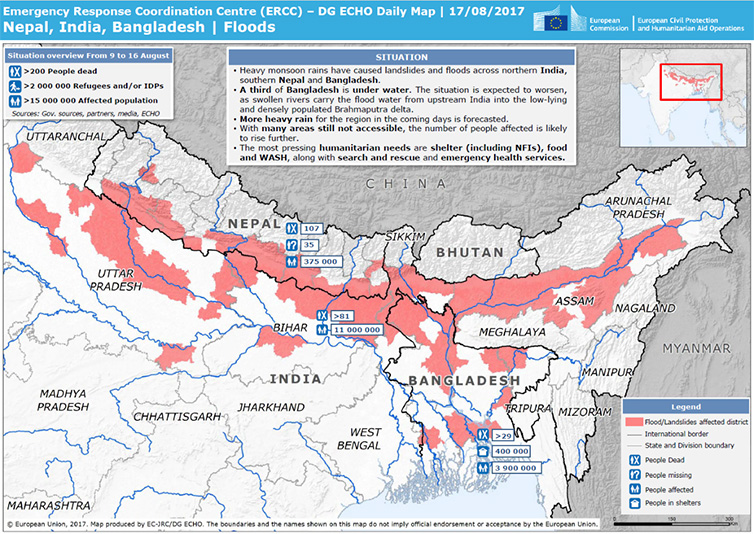 Emergency Response Coordination Centre map
