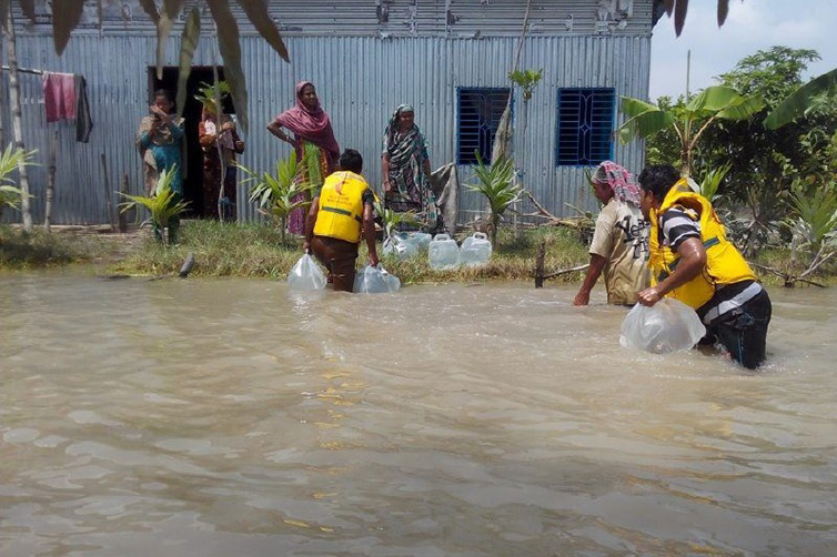 Flooding in Islampur, Bangladesh