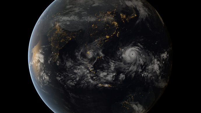 Typhoon Haiyan as seen from space on 7 November 2013