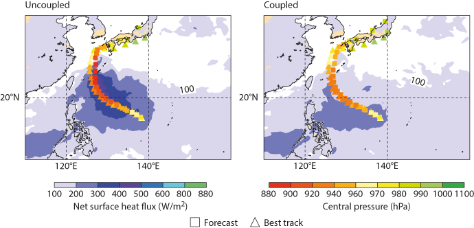 Typhoon Neoguri track and intensity forecasts starting 5 July 2014