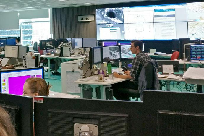 Australian BOM forecasting room