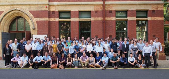 Participants at the HEPEX 2018 workshop, Australia