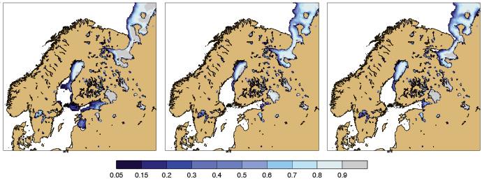 Baltic Sea sea ice charts