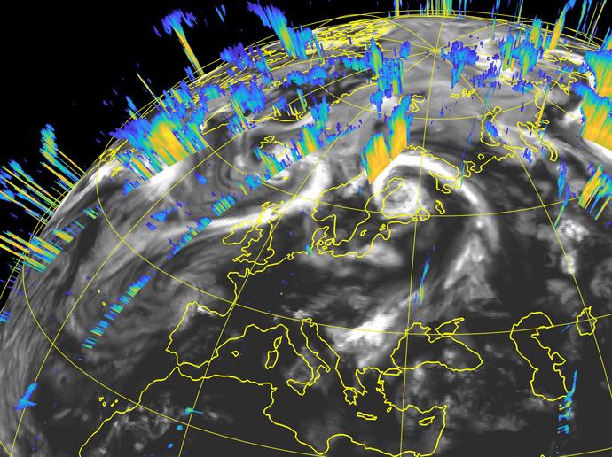 Satellite observations of vertical cloud structure