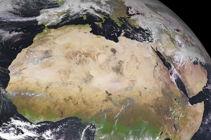 Northern Africa from MSG-4 on 10 Feb 2019