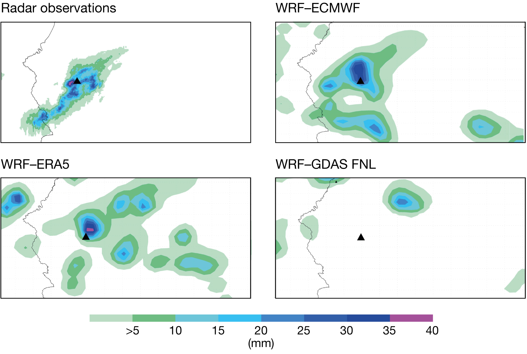 Challenges in forecasting local heavy rainfall in