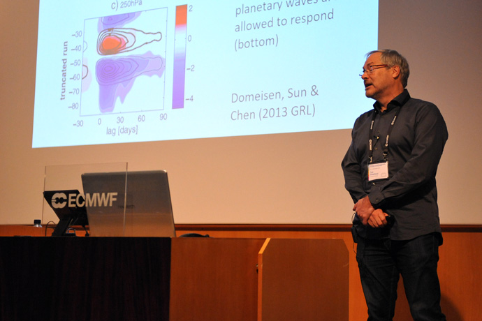 Ted Shepherd at stratospheric predictability workshop at ECMWF Nov 19