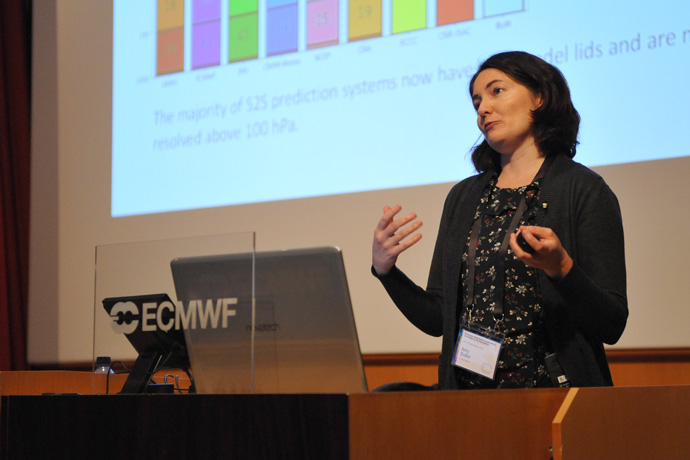 Amy Butler at stratospheric predictability workshop at ECMWF Nov 19