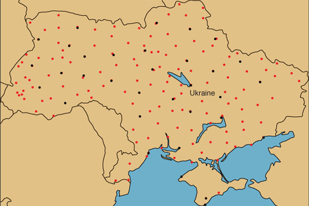 Extra weather station data from Ukraine (red dots in the map show the new locations)