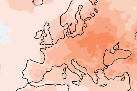 European State of the Climate 2019: temperature anomaly chart
