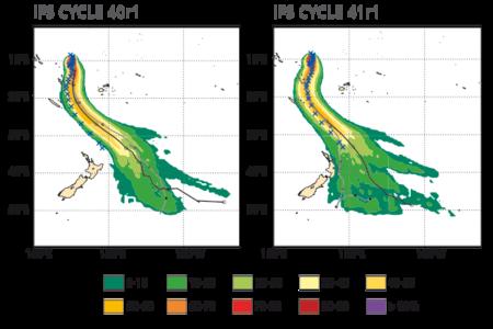 Tropical cyclone tracks