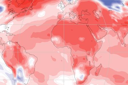 CERA-20C temperature anomalies 2010