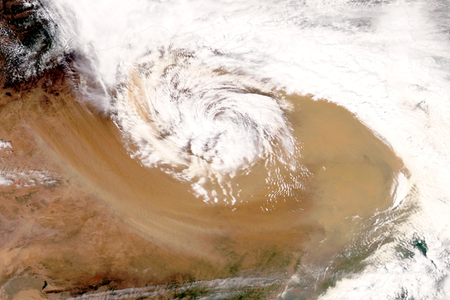 Dust storm over northern China