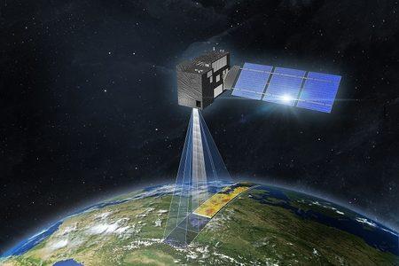 Copernicus CO2 satellite image