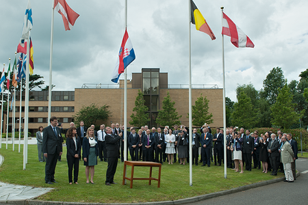 Croatian flag-raising ceremony, 30 June 2016