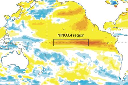Sea-surface temperature anomalies August 2015