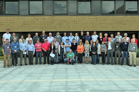 Group photo of participants at 10th Eumetcal workshop, 2015