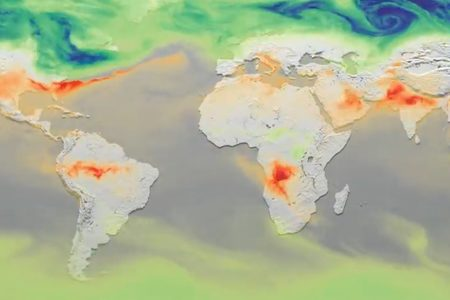 Example CO2 distribution from 2015