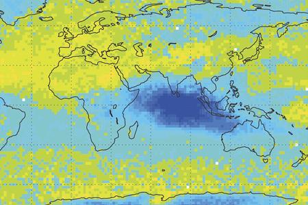 Satellite temperature chart