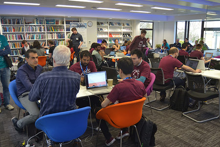Open data hackathon at ECMWF 4 and 5 March 2017 (Photo: Maurizio Latini)