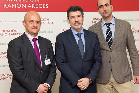 Fernando Belda (AEMET), Juan Garces de Marcilla and Ángel López Alós in Madrid