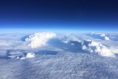 View of Hurricane Patricia from above