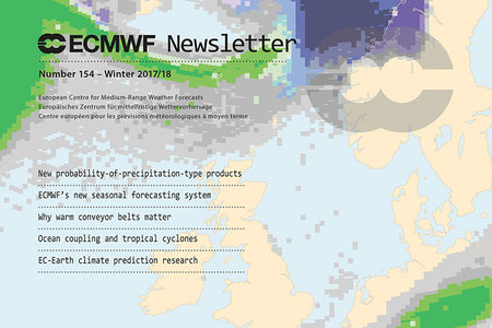 ECMWF Newsletter 154 cover