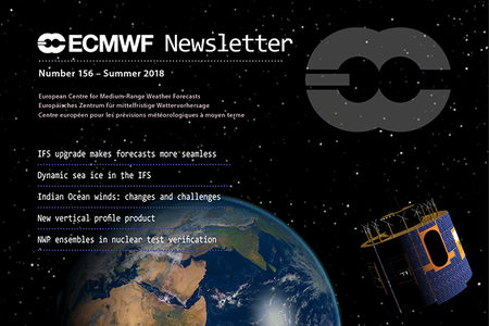 ECMWF Newsletter 156 cover