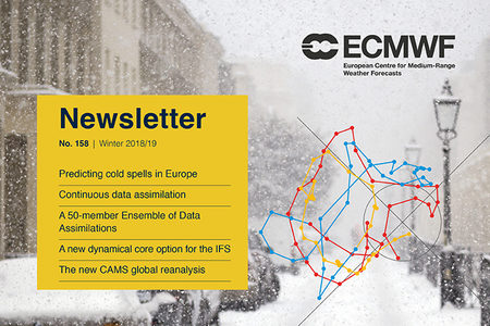 ECMWF Newsletter 158 cover