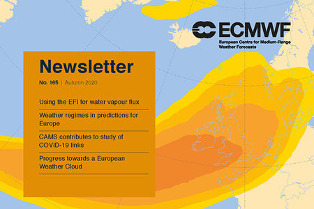 ECMWF Newsletter 165 cover page image