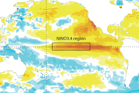 Sea-surface temperature anomalies Oct 2015