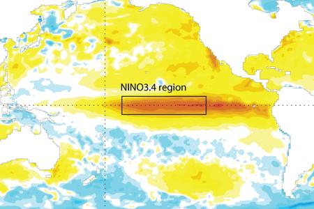 Sea-surface temperature anomalies Nov 2015