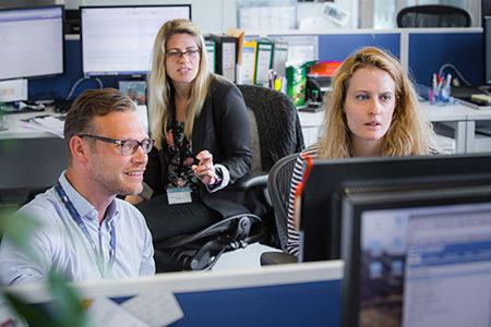 ECMWF staff in open plan office