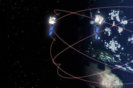 A FORMOSAT-7/COSMIC-2 satellite in orbit