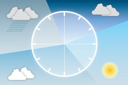 Weather-and-clock diagram