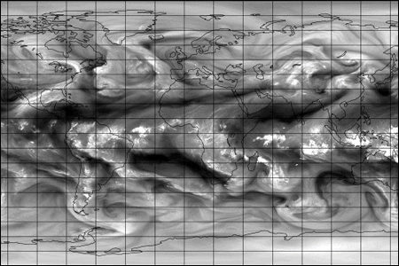 ECMWF science blog; simulated satellite image