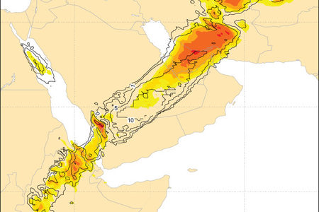 EFI precipitation for Saudi Arabia, Feb 2017