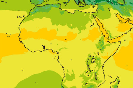 Crop showing model climate for Africa