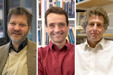 ECMWF Fellows Tilmann Gneiting, Rupert Klein, Tim Palmer