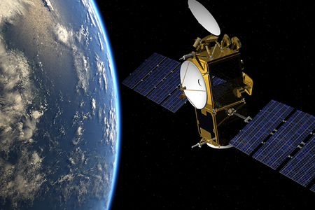 Artist's impression of Jason-3 satellite in orbit