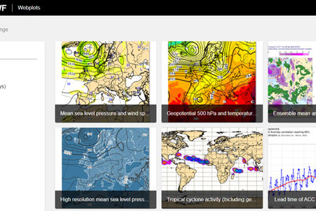 ECMWF medium-range forecast charts