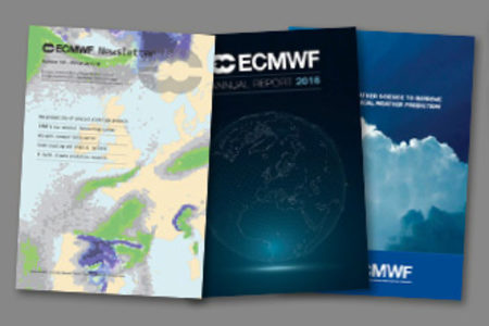 ECMWF publication covers