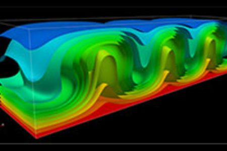 Illustration of fluid dynamics model