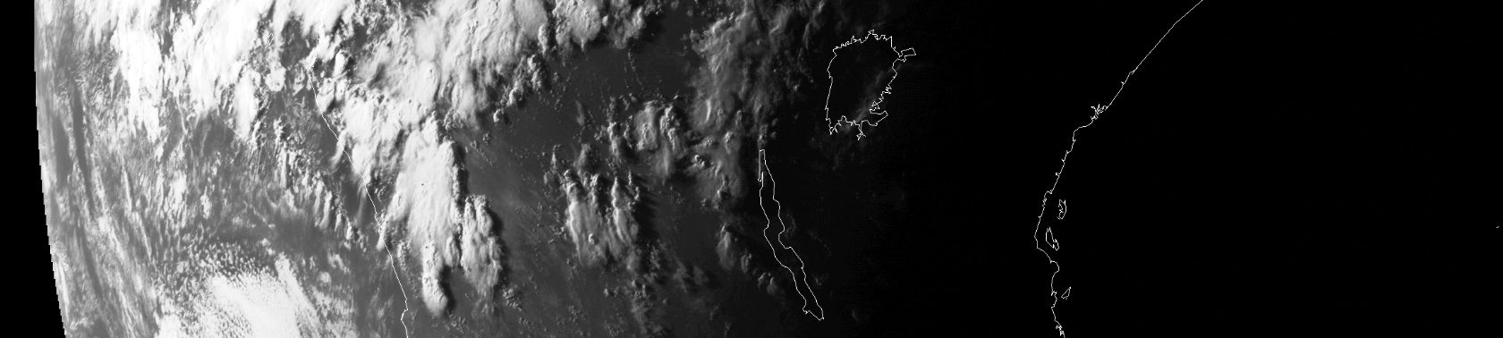 Meteosat visible channel image showing evening convection over central Africa, 16:00 UTC, 7 May 2016